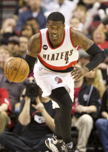 Feb 22, 2015; Portland, OR, USA;  Portland Trail Blazers guard Wesley Matthews (2) dribbles the ball up court against the Memphis Grizzlies at Moda Center at the Rose Quarter. Mandatory Credit: Jaime Valdez-USA TODAY Sports