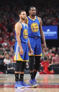 Stephen Curry Kevin Durant vertical