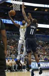 Will Barton of the Denver Nuggets vertical